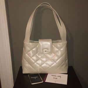 Chanel Metallic Quilted Shoulder Bag